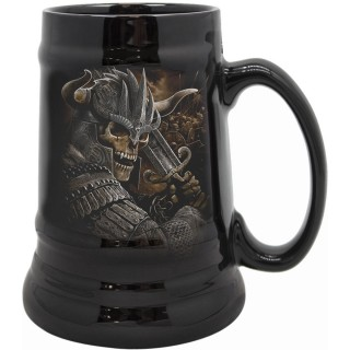 Chope à bière à Guerrier viking squelette