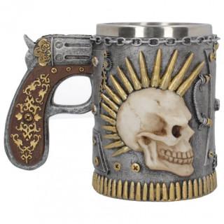 Chope à bière / tankard steampunk inspiration roulette russe