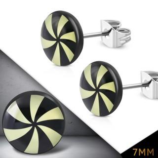 Clous d'oreille logo hélice