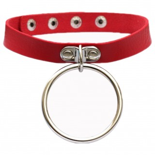 "Collier rouge à gros anneau ""LUNA CHOCKER"" - Banned"