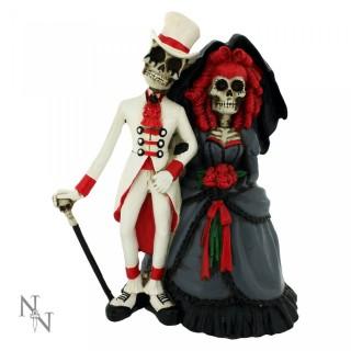 "Couple de Squelettes ""Forever by your side"" (14cm)"