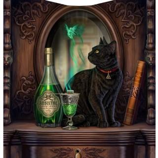 Couverture Plaid 160cm à chat et bouteille d'absinthe - Lisa Parker