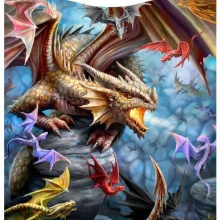 Couverture plaid 160cm à clan des dragons - Anne Stokes