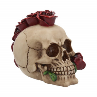 Crane déco punk à crête de roses rouges