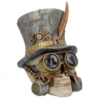 Crane déco steampunk à chapeau haut de forme (19,5cm)