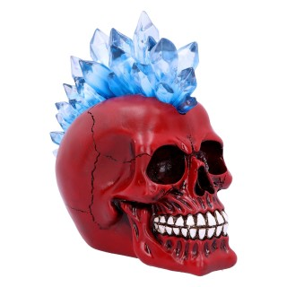 Crane décoratif rouge à crète cristal bleu - Nemesis Now