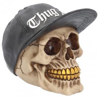 Crane hiphop Thug Life à casquette et fausses dents en or (15,8cm)