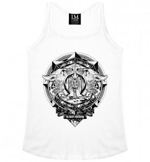 Débardeur femme gothique Locusts Tank (B/W) - LA Mort Clothing