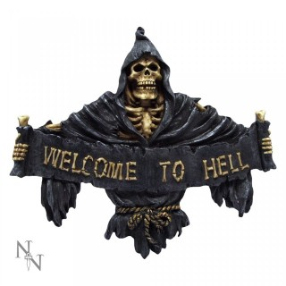 "Décoration de porte ""Welcome To Hell""  - 25cm"