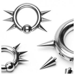 Ecarteur anneau CBR en acier à 6 spikes dévissables