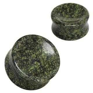 Ecarteur plug en Serpentine verte