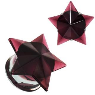 Ecarteur plug en verre à étoile pourpre