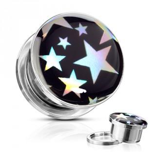 Ecarteur plug étoilé style holographique