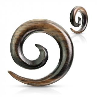 Ecarteur spirale en bois d'ébène strié