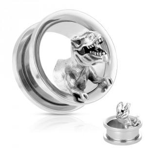 Ecarteur Tunnel en acier à dinosaur T.Rex en métal