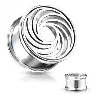 Ecarteur tunnel en acier à spirale ajourée