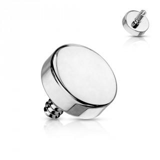 Embout de piercing disque en acier (pour tige filetage interne)