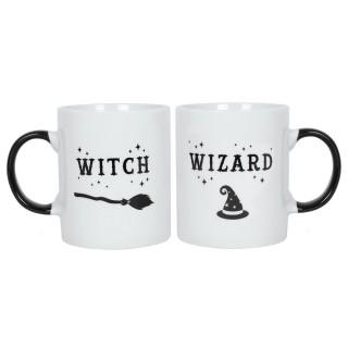 Ensemble 2 mugs Witch and Wizard (Sorcière et sorcier)