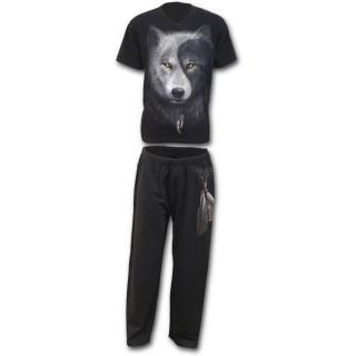 Ensemble pyjamas gothique homme 4 pièces esprit du loup