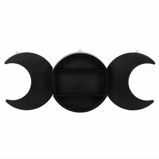 Etagère murale noire Triple lune