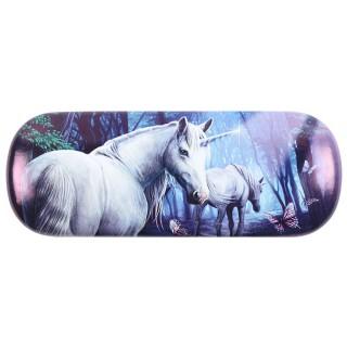 Étui à lunettes à licornes en forêt - Lisa Parker