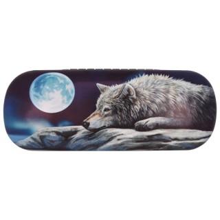 Étui à lunettes à Loup au repos et pleine lune - Lisa Parker