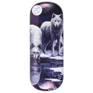 Étui à lunettes à loups au bord de la rivière - Lisa Parker