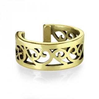 Faux piercing cartilage anneau à coeurs vintage - Bronze