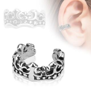 achat faux piercing oreille en forme de couronne fleur de lys pas cher. Black Bedroom Furniture Sets. Home Design Ideas