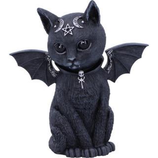 Figurine chat démoniaque à ailes de chauve-souris Malpuss