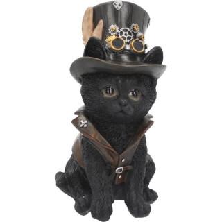 Figurine chat noir steampunk (18.5 cm)