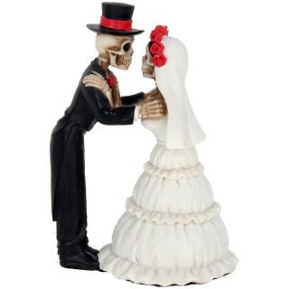 Figurine couple de Squelettes en train de se marier (13cm)