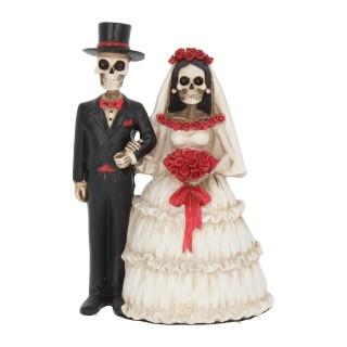 Figurine couple de squelettes mariés Eternally Yours