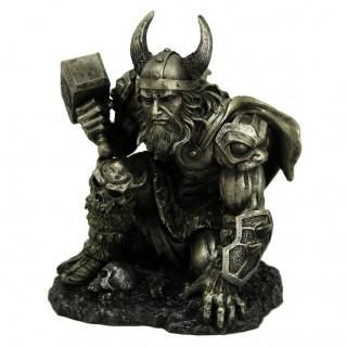 Figurine dieu viking Thor en armure (19cm)