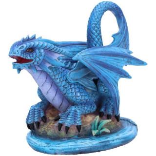 Figurine dragon d'eau à écailles bleues - Anne Stokes (15cm)