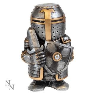 Figurine soldat médiéval en armure avec épée et bouclier Sir Defendalot 11cm