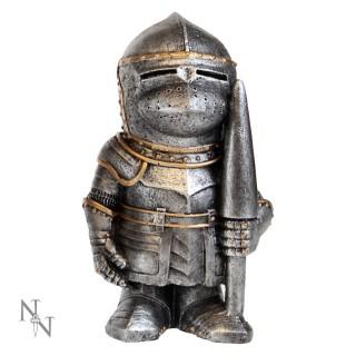 Figurine soldat médiéval en armure avec lance Sir Pokealot 11cm