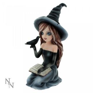 Figurine sorcière gothique avec corbeau Regan (15cm) - Nemesis Now