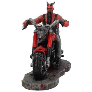 Figurine style biker à motard démon sur sa moto - James Ryman(20cm)
