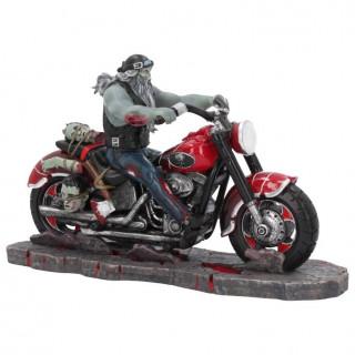 Figurine style biker à motard zombie sur sa moto - James Ryman (20cm)