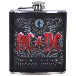 """Flasque ACDC thème de l'album """" Black Ice """""""