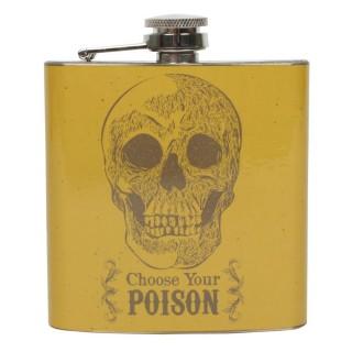 Flasque inox à crane Choose Your Poison