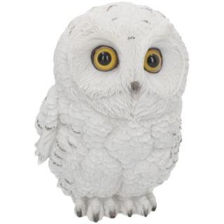 Grande figurine chouette blanche des neiges (19cm)