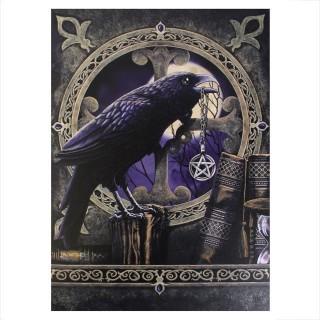 """Grande toile canevas à corbeau et pentacle """"Talisman Raven"""" - Lisa Parker (50x70cm)"""