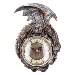 Horloge à dragon steampunk