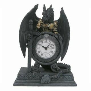 Horloge gothique à Dragon en armure (20cm)