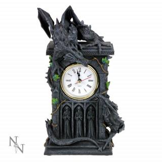 Horloge gothique à Dragons en duel Duelling Dragons Clock (26cm)