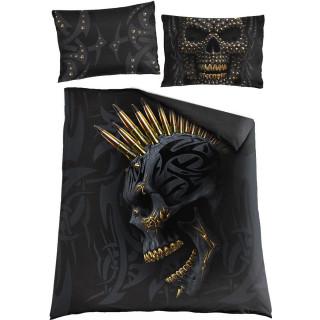 Housse de couverture BLACK GOLD double face (200x200cm) + 2 taies d'oreiller