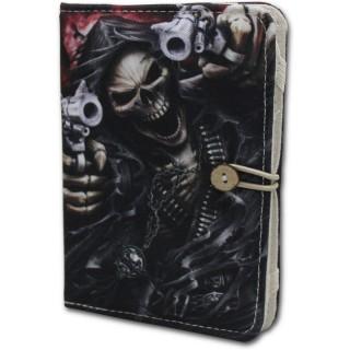 Housse porte-folio pour liseuse Kindle avec La Mort pointant ses pistolets