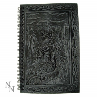 Journal /carnet intime à dragon noir (20cm)